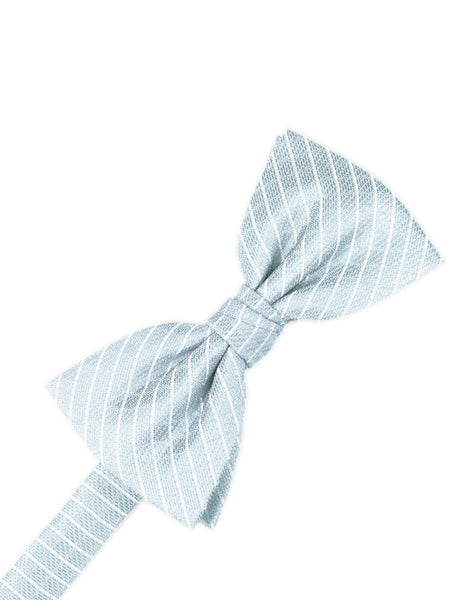 Powder Blue Diamond Grid Pattern Formal Bow Tie