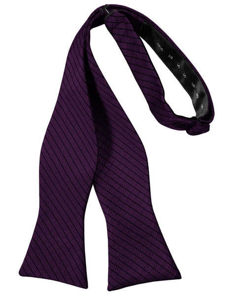 Raisin Diamond Grid Pattern Self-Tie Bow Tie