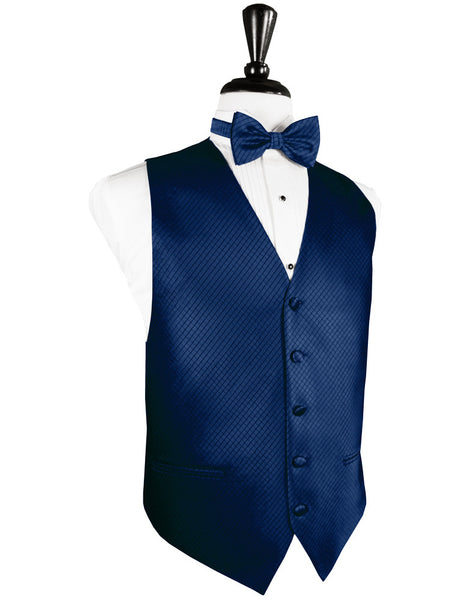 Royal Blue Palermo Tuxedo Vest and Tie Set