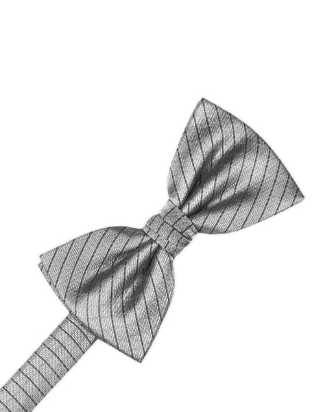 Silver Diamond Grid Pattern Formal Bow Tie