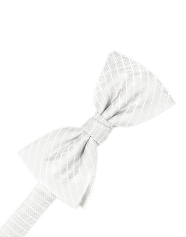 White Diamond Grid Pattern Formal Bow Tie