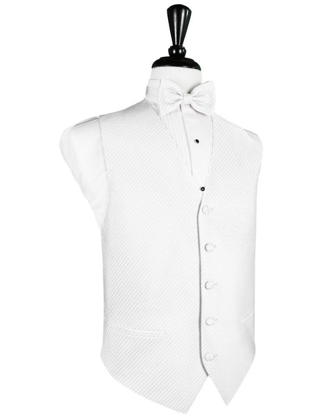 White Palermo Tuxedo Vest and Tie Set