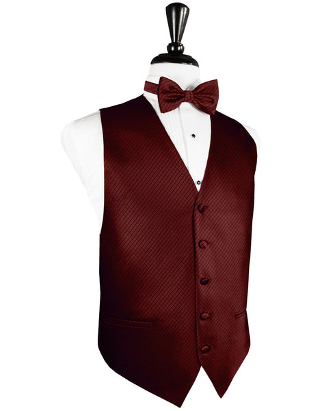 Wine Palermo Tuxedo Vest and Tie Set