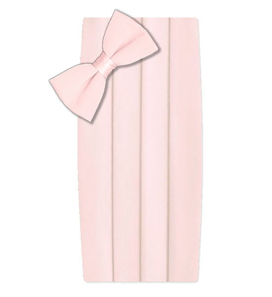Poly/Satin Cummerbund and Bow Tie Set - Light Pink