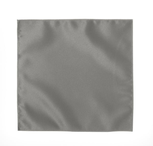 Deluxe Satin Formal Pocket Square (Silver)