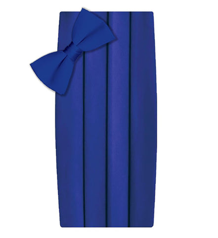 Poly/Satin Cummerbund and Bow Tie Set - Royal Blue