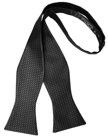 Asphalt Silk Weave Self-Tie Bow Tie