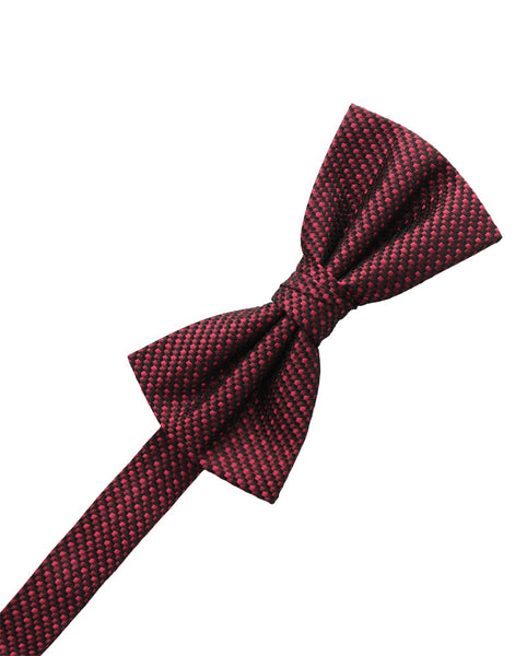 Wine Silk Weave Formal Bow Tie