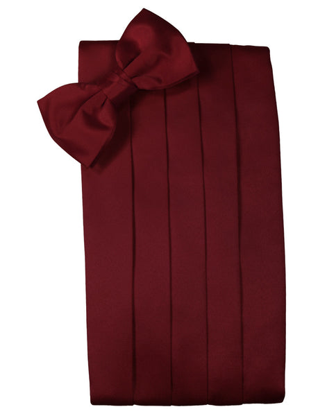 "Apple Red ""Premier"" Satin Cummerbund Set"
