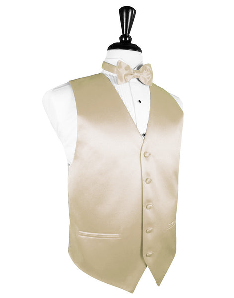 "Bamboo ""Premier"" Satin Tuxedo Vest and Tie Set"