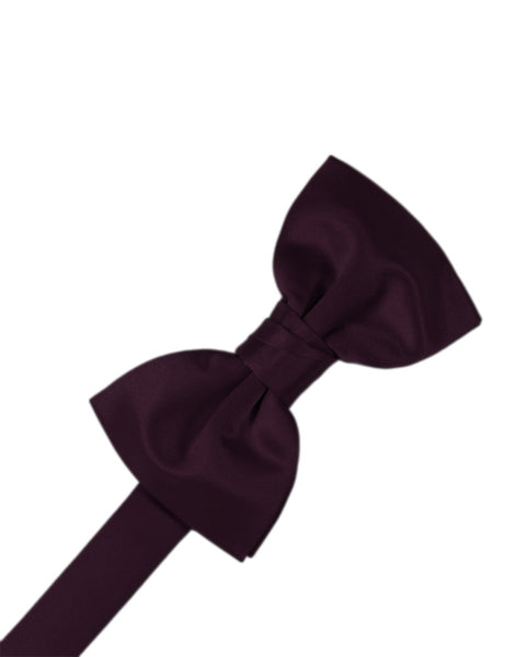 "Berry ""Premier"" Satin Formal Bow Tie"