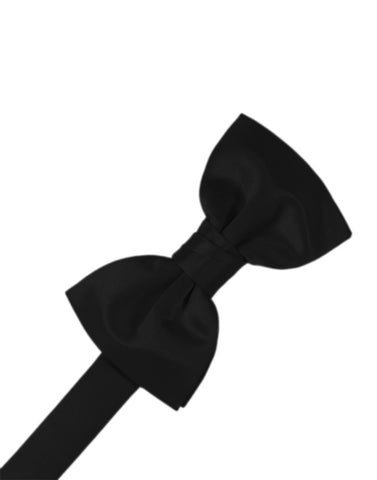 "Black ""Premier"" Satin Formal Bow Tie"