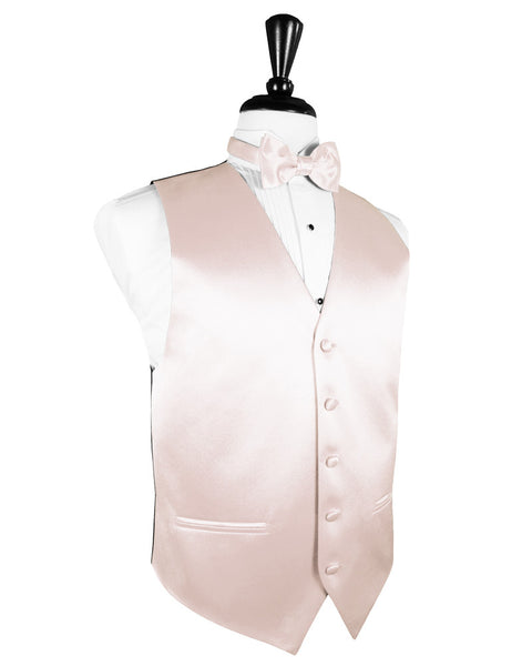 "Blush ""Premier"" Satin Tuxedo Vest and Tie Set"