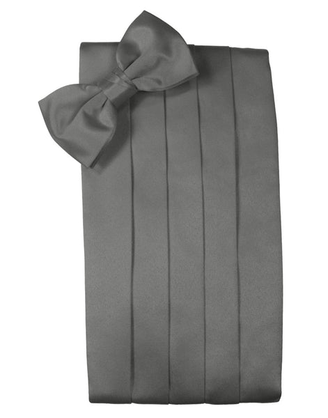 "Charcoal ""Premier"" Satin Cummerbund Set"