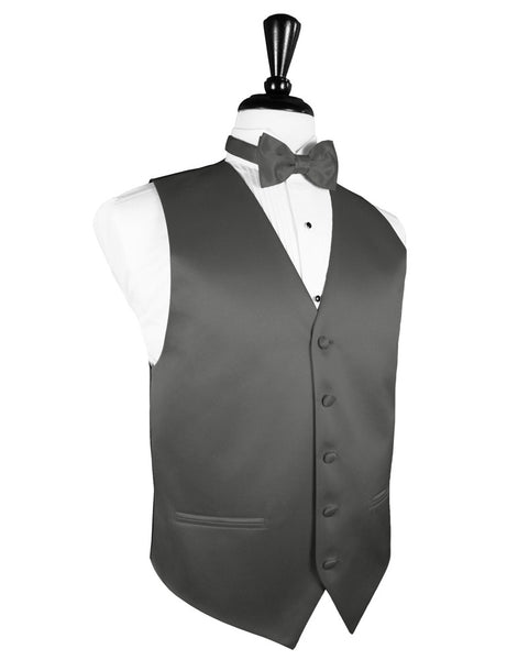 "Charcoal ""Premier"" Satin Tuxedo Vest and Tie Set"