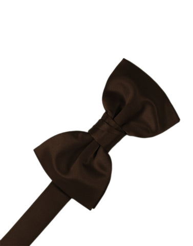 "Chocolate ""Premier"" Satin Formal Bow Tie"