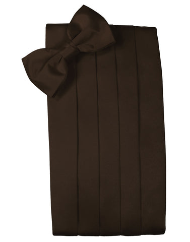 "Chocolate Brown ""Premier"" Satin Cummerbund Set"