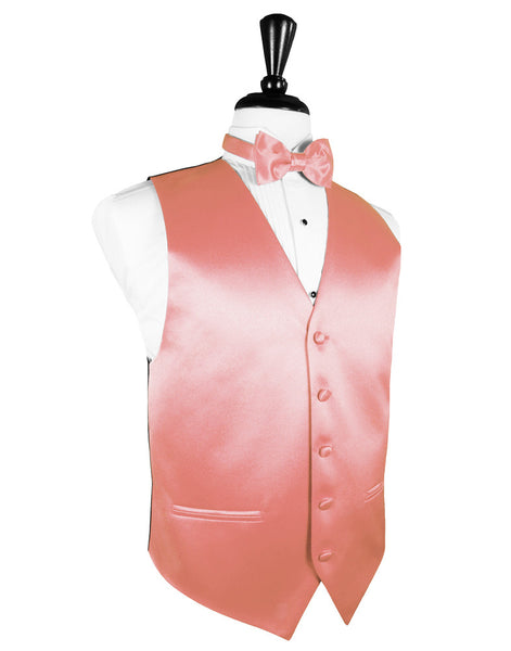 "Coral Reef ""Premier"" Satin Tuxedo Vest and Tie Set"