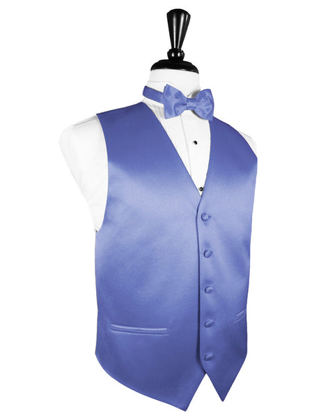 "Cornflower ""Premier"" Satin Tuxedo Vest and Tie Set"