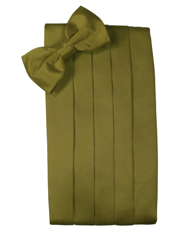 "Fern Green ""Premier"" Satin Cummerbund Set"