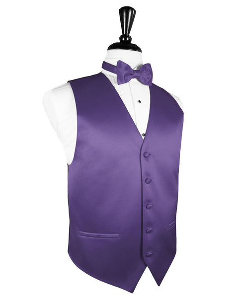 "Freesia ""Premier"" Satin Tuxedo Vest and Tie Set"