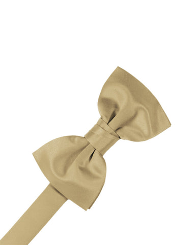 "Golden ""Premier"" Satin Formal Bow Tie"