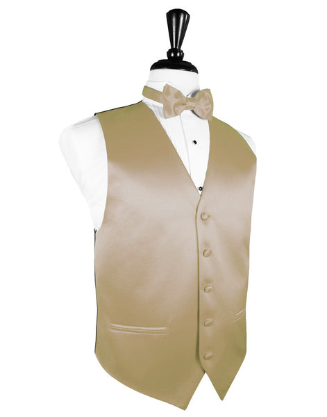 "Gold ""Premier"" Satin Tuxedo Vest and Tie Set"