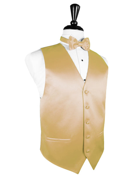 "Harvest Maize ""Premier"" Satin Tuxedo Vest and Tie Set"