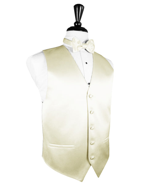 "Ivory ""Premier"" Satin Tuxedo Vest and Tie Set"