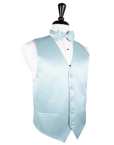 "Light Blue ""Premier"" Satin Tuxedo Vest"