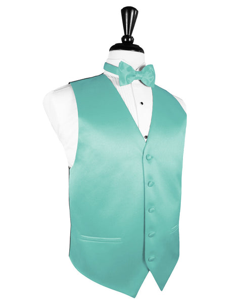 "Mermaid ""Premier"" Satin Tuxedo Vest and Tie Set"