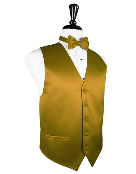 "New Gold ""Premier"" Satin Tuxedo Vest and Tie Set"