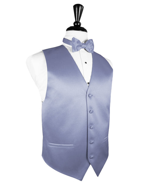 "Periwinkle ""Premier"" Satin Tuxedo Vest and Tie Set"