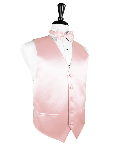 "Pink ""Premier"" Satin Tuxedo Vest and Tie Set"