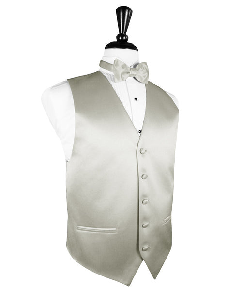 "Platinum ""Premier"" Satin Tuxedo Vest and Tie Set"