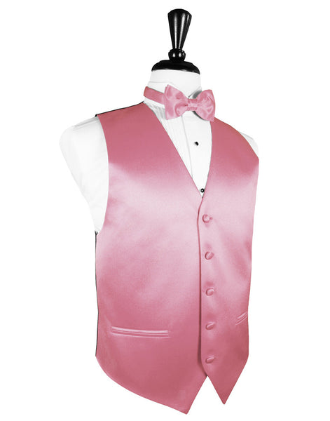 "Rose Petal ""Premier"" Satin Tuxedo Vest and Tie Set"