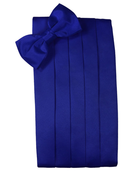 "Royal Blue ""Premier"" Satin Cummerbund Set"