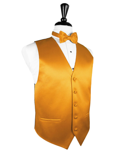 "Tangerine ""Premier"" Satin Tuxedo Vest and Tie Set"
