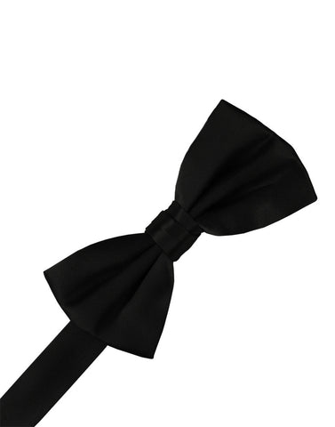 Black Noble Silk Formal Bow Tie