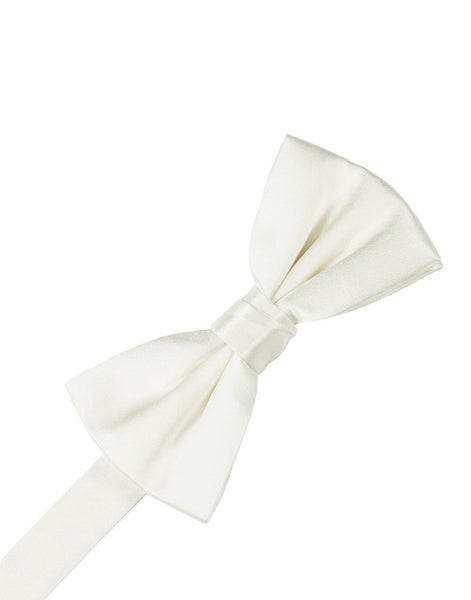 Ivory Noble Silk Formal Bow Tie
