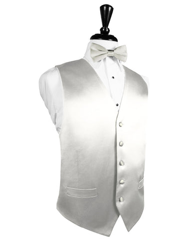 Ivory Noble Silk Full Back Tuxedo Vest by Cristoforo Cardi