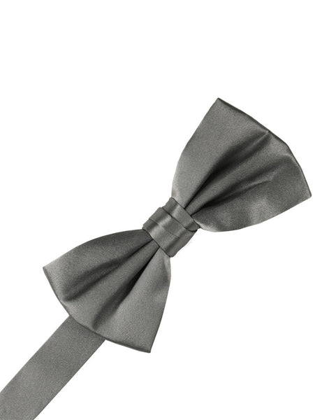 Silver Noble Silk Formal Bow Tie