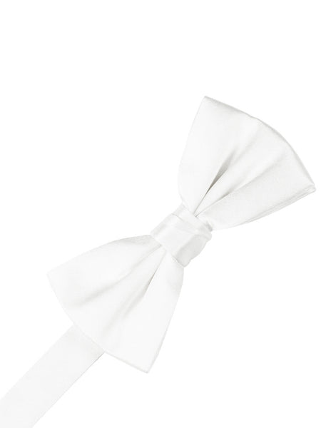 White Noble Silk Formal Bow Tie