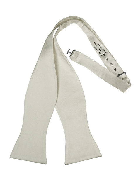 White Noble Silk Self-Tie Bow Tie
