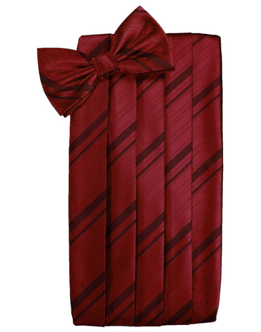 Apple Striped Satin Cummerbund Set