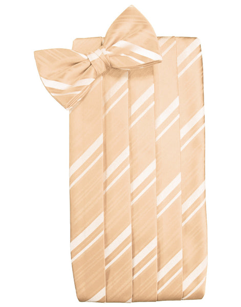 Apricot Striped Satin Cummerbund Set