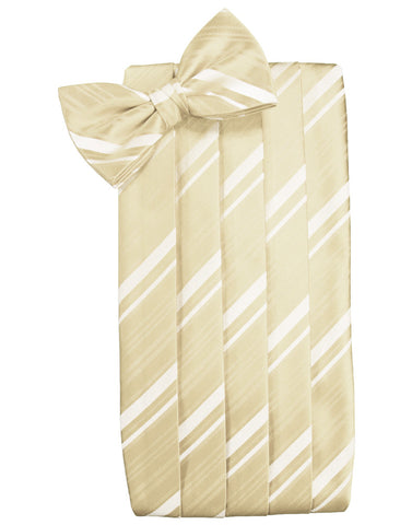 Bamboo Striped Satin Cummerbund Set