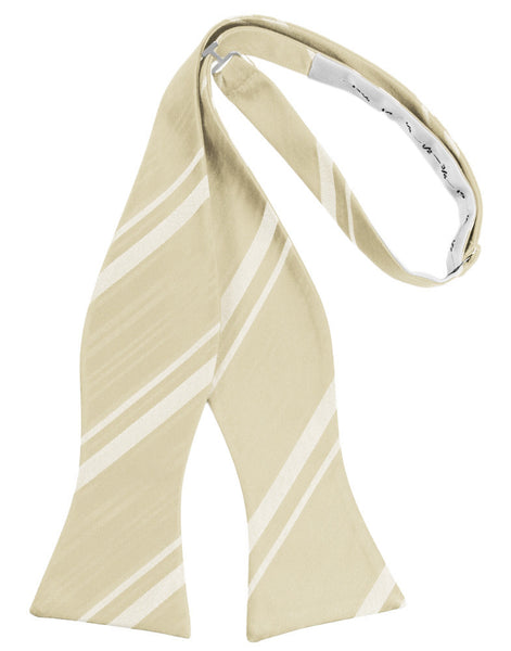 Bamboo Striped Satin Self-Tie Formal Bow Tie