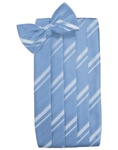 Cornflower Striped Satin Cummerbund Set