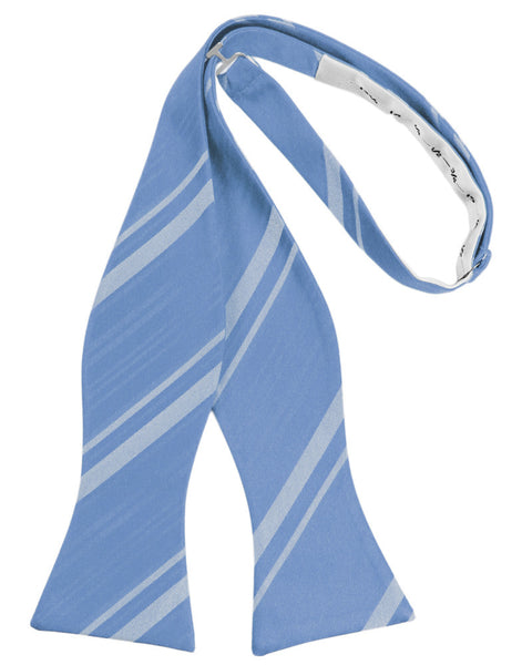 Cornflower Striped Satin Self-Tie Formal Bow Tie